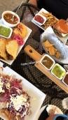 Gringas, Sopecitos, Chipotle Burger, Salsa Sampler
